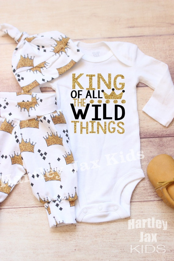 New Mom Gift Black Baby Boy Leggings Hat Gold Crown Organic Baby Leggings Toddler Pants Newborn Coming Home Outfit Baby Shower Boy