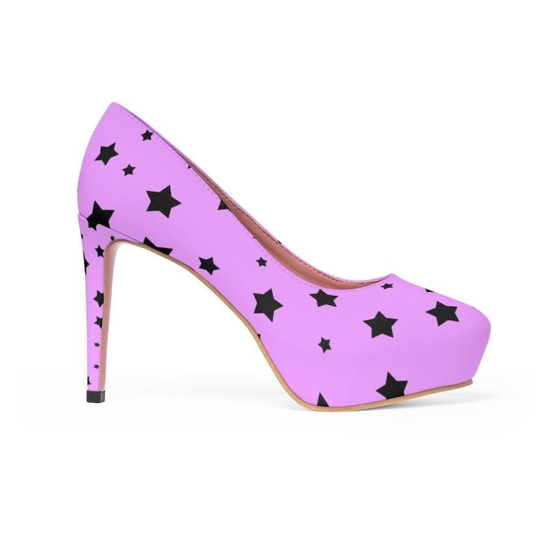 a917be9f920e2 Wish Upon a Star Platform Heels - Purple