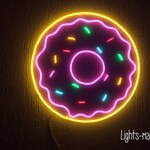 Donut Multicolored Unbreakable Neon Sign Night Light