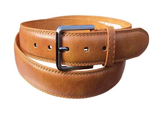 "1.25/"" /& 1.5/"" Wide Choose 1/"" Men/'s Milano® Full Grain Black Leather Belt"
