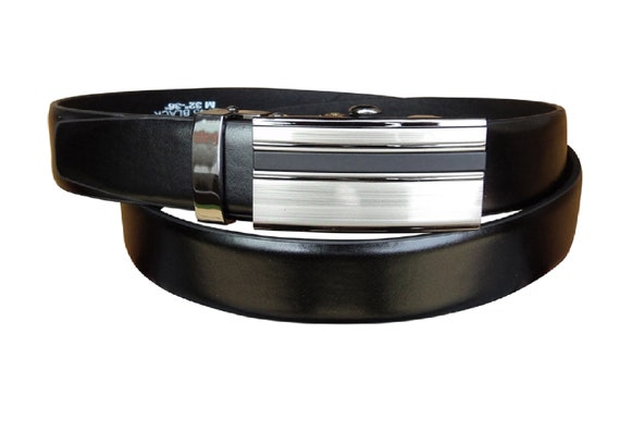 "Gift Box Option 48/"" 1.25/"" Wide Waist 32/"" Men/'s Milano® Black Ratchet Belt"