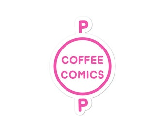 Pop Coffee Comics Logo - Vinyl Sticker