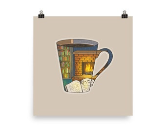 """Coffee Shapes & Spaces : Home - 12"""" Matte Poster"""
