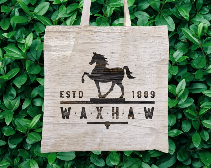 Equus (whitewashed wood) Tote