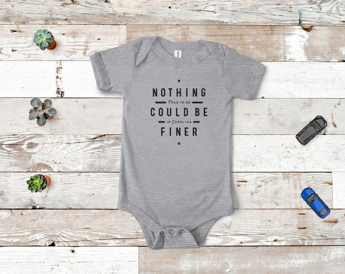 Nothing could be finer - Onesie (Runs one size small) Heather Grey