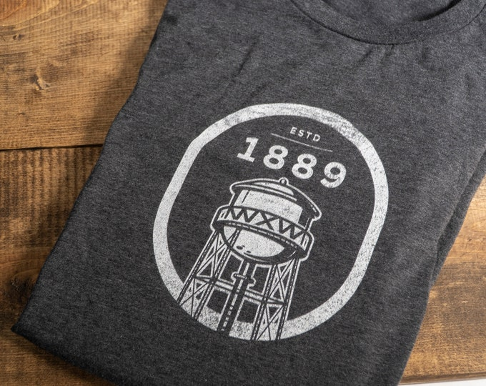 WXW Water Tower 1 color - Unisex Jersey Short Sleeve Tee
