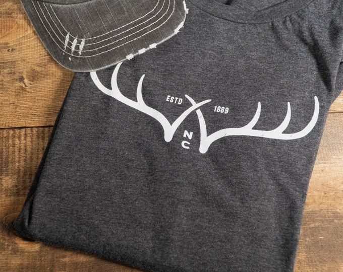 WXW Outdoors Antlers (white) - Unisex Jersey Short Sleeve Tee 2