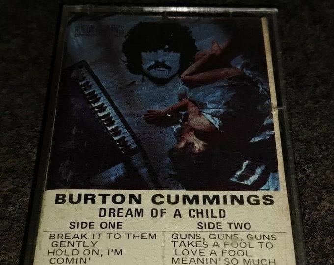 Burton Cummings Dream of a Child cassette tape 1978 CBS Canada PAPER LABELS tape Canadian version cassette tape