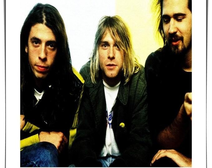 Vintage photo handmade Polaroid style photo Nirvana Grunge Rock 1990's Kurt Cobain Seattle photo