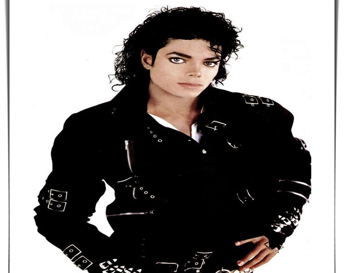 Vintage photo handmade Polaroid style photo Michael Jackson King of Pop music Bad 1980's photo