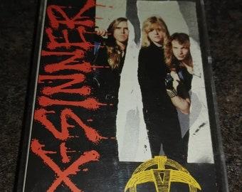X-Sinner Peace Treaty cassette tape Pakaderm Records Word 1991 Christian Rock hard rock Canadian version cassette
