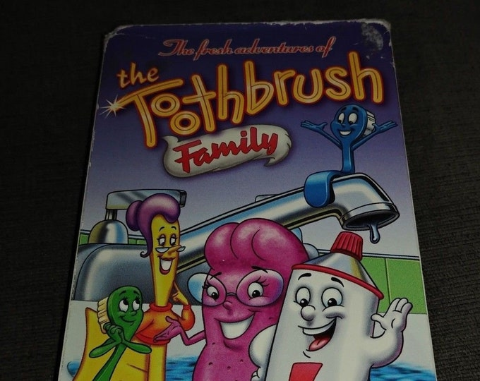 RARE The Toothbrush Family VHS tape Just For Kids Home Video 1997 Southern Star