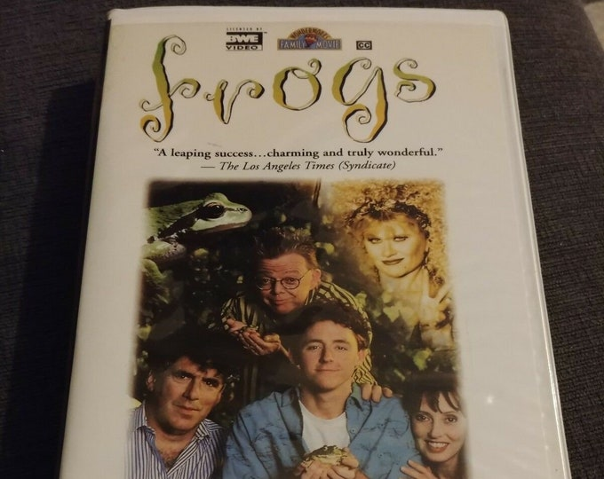 HTF Frogs! 1991 Clamshell VHS tape sequel to 1987 Frog movie BWE Video