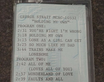 Very RARE MCA Advanced Promo cassette tape George Strait Holding My Own 1992