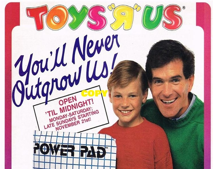 Retro Toy ad advertisement Toys R Us Nintendo NES Power Video Game Set console system 1980's Christmas picture photo RP 4x6