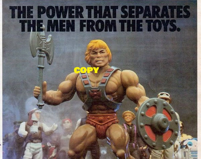 Retro Toy ad advertisement Mattel He-Man Masters of the Universe figures 1980's picture photo RP 4x6