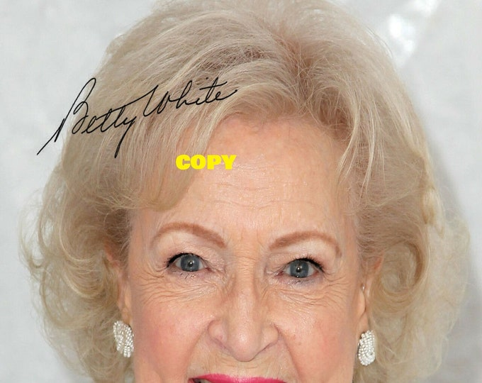Betty White Golden Girls signed reprint photo poster autograph RP