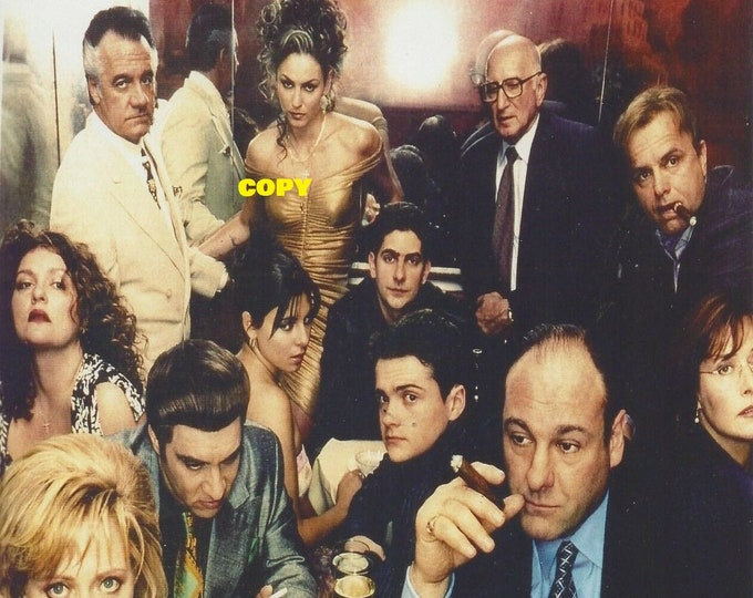 Sopranos TV cast show series gangsters Mafia organized crime actors actress Tony Soprano picture photo RP 4x6