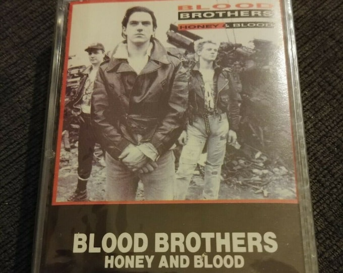 NEW Sealed Blood Brothers Honey and Blood cassette tape 1988 BMG Canada Jive Canadian version cassette tape