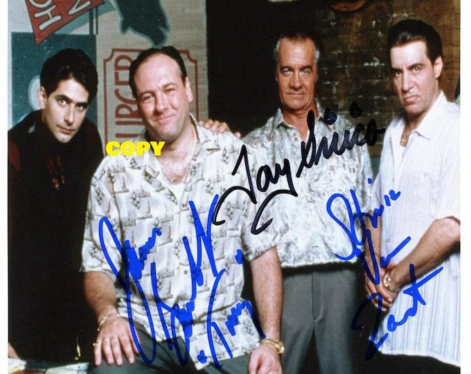 The Sopranos TV show James Gandolfini cast signed reprint photo poster autograph RP