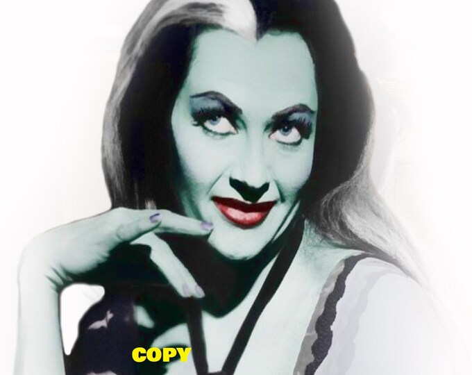 Yvonne De Carlo as Lily Munster from The Munsters TV show 1960's actress retro gothic vintage picture photo RP 4x6
