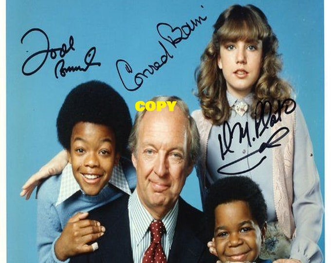 Different Strokes Diff'rent Strokes show family sitcom 1970's cast members signed reprint photo poster autograph RP