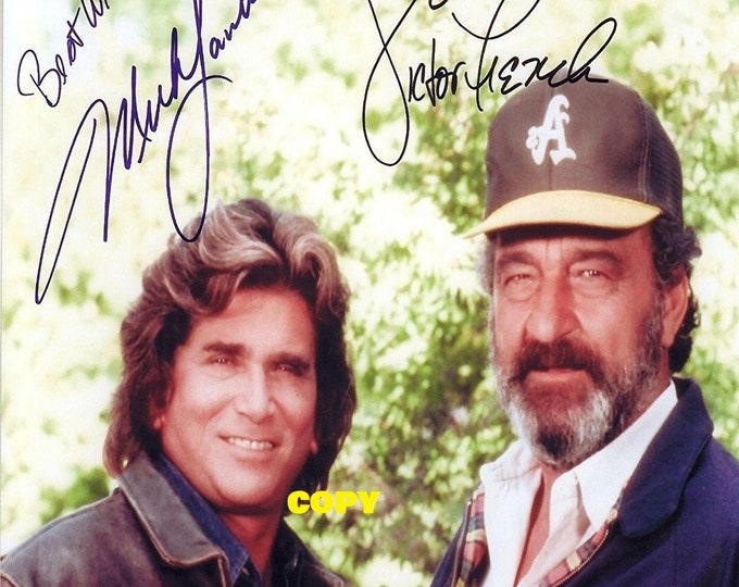 Highway To Heaven show family drama fantasy Michael Landon 1980's cast members signed reprint photo poster autograph RP