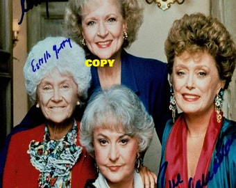 Vintage retro The Golden Girls cast TV show comedy 1980's Betty White photo picture color 4x6