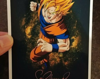 Vintage retro Dragon Ball Z Sean Schemmel Goku TV show series Anime cartoon picture color 4x6