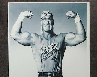 WCW wrestling Hulk Hogan Hulkster promo picture 2000's black and white 5x7 photo WWF WWE