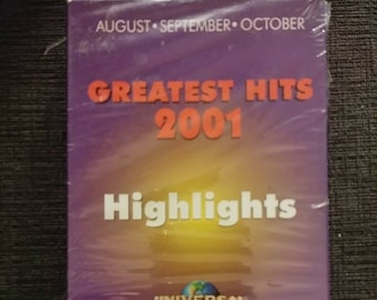 Greatest Hits 2001 Highlights VHS tape Universal Alliance Atlantis screener video store previews tape