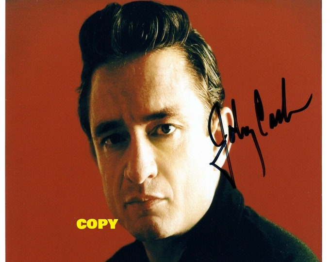 Johnny Cash Man In Black signed portrait younger 1960's reprint photo poster autograph RP