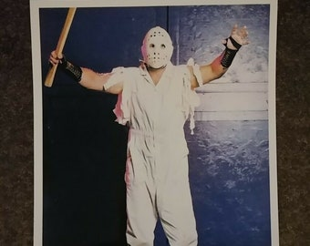 Stampede Wrestling Calgary Jason The Terrible Human Destruction Machine promo style art print 4x6 photo WWE WWF