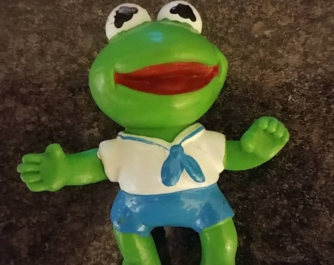 Vintage McDonald's Happy Meal Toys Baby Kermit the frog 1986 Muppet Babies McDonalds