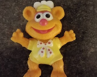 Vintage McDonald's Happy Meal Toys Baby Fozzie bear 1986 Muppet Babies McDonalds