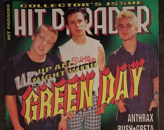 Vintage Hit Parader from Feb 1996 Green Day Collector's Issue Anthrax Ozzy AC/DC Silverchair
