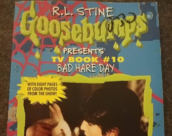 R.L. Stine Goosebumps Presents TV Book #10 Bad Hare Day book Scholastic books first print 1997 HTF kids novelization