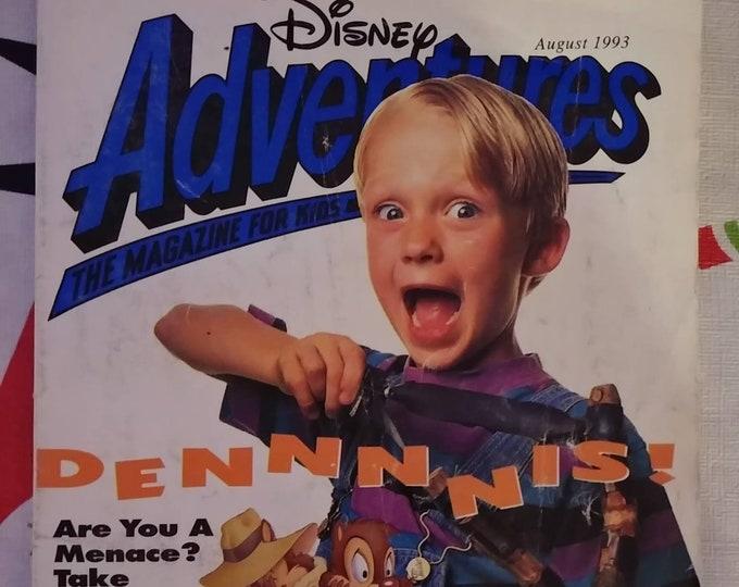 Vintage HTF Disney Adventures kids magazine August 1993 Vol. 3 Number 10 Dennis the Menace movie