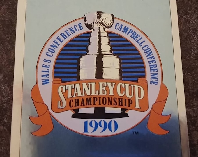 Panini Hockey 1990-91 NHL sticker album sticker book #171 Foil Stanley Cup Championship 1990 logo