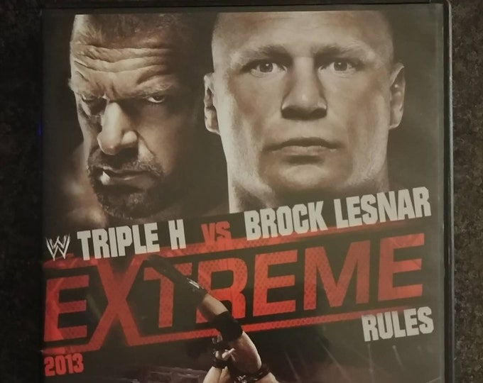 WWE Extreme Rules 2013 DVD wrestling PPV show World Wrestling Entertainment Home Video Triple H Vs. Brock Lesnar