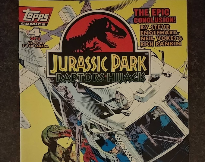 Hard to find Topps Comics Jurassic Park Raptors Hijack book 4 of 4 from October 1994