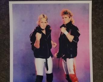 Stampede Wrestling Calgary Bad Company tag team Bruce Hart Brian Pillman promo style art print 4x6 photo WWE WWF