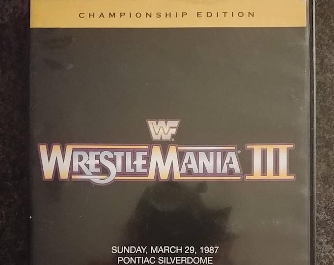WWE Championship Edition Wrestlemania 3 two disc DVD set wrestling PPV show World Wrestling Entertainment Home Video Koch Vision