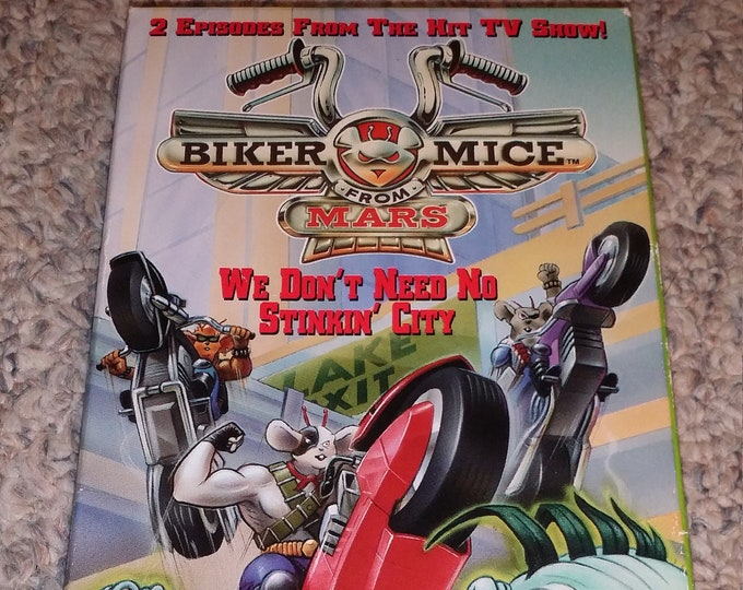 Biker Mice from Mars VHS 1994 HGV Video Productions cartoon TV show 2 episodes
