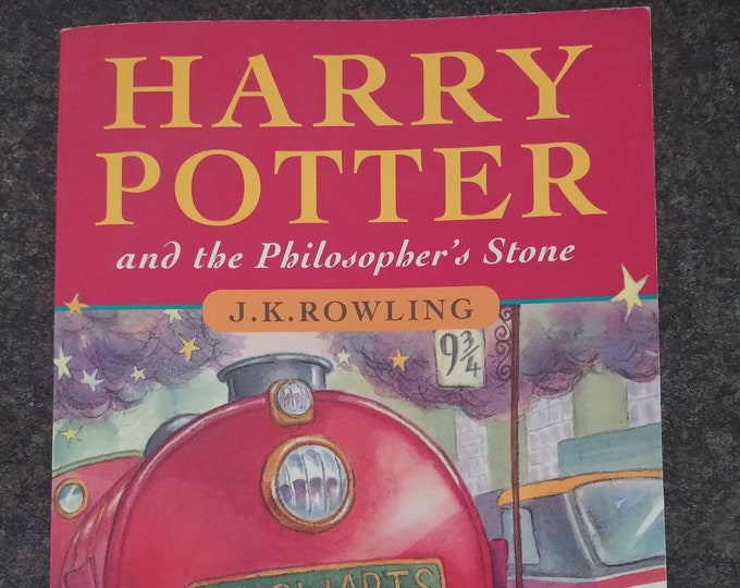 Harry Potter and the Philosopher's Stone soft cover book Canadian edition 20th Print WAND TYPO page 53 version Recycled Paper Printing