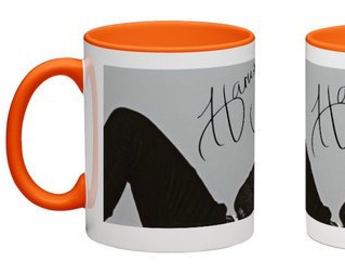 Handmade Coffee Mug Harry Styles One Direction band boy band cup wraparound PICK OWN color custom made