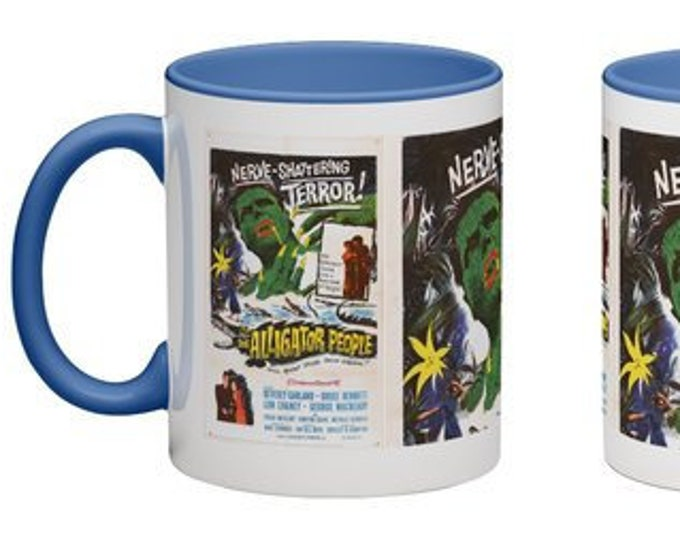 Handmade Coffee Mug The Alligator People horror sci-fi movie 1959 cup wraparound PICK OWN color custom made