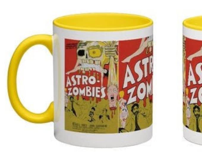 Handmade Coffee Mug Astro Zombies horror Sci-Fi movie 1968 cup wraparound PICK OWN color custom made