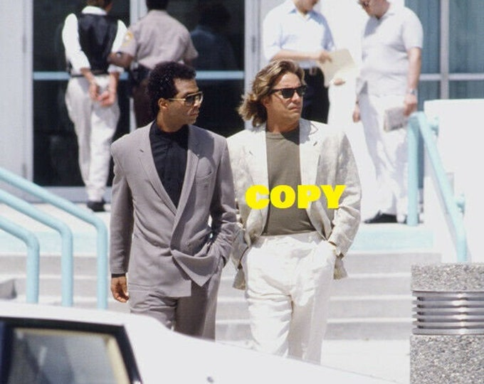 Miami Vice 1980's TV show Don Johnson Philip Michael Thomas P.M. Thomas photo picture publicity RP 4x6 you pick photo