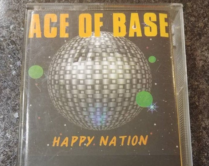 RARE Ace of Base Happy Nation 1992 cassette tape Metronome Music Polygram Malaysia Singapore Hong Kong version tape Manufactured in Malaysia